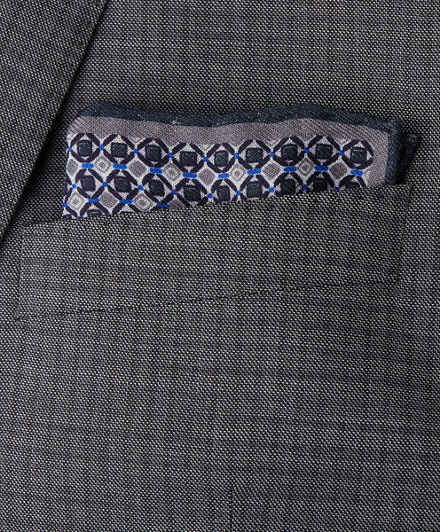 PS9645010 | Charcoal Diamond Pocket Square