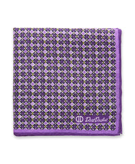 Purple Diamond Pocket Square