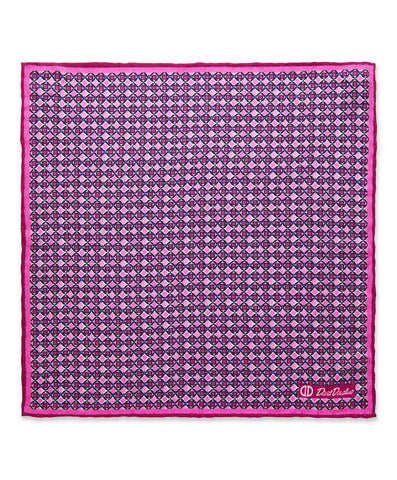 Pink Diamond Pocket Square