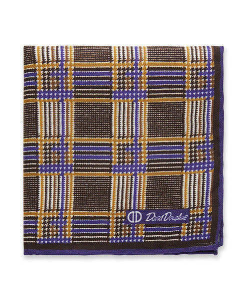 PS9898212 | Chocolate Houndstooth Pocket Square