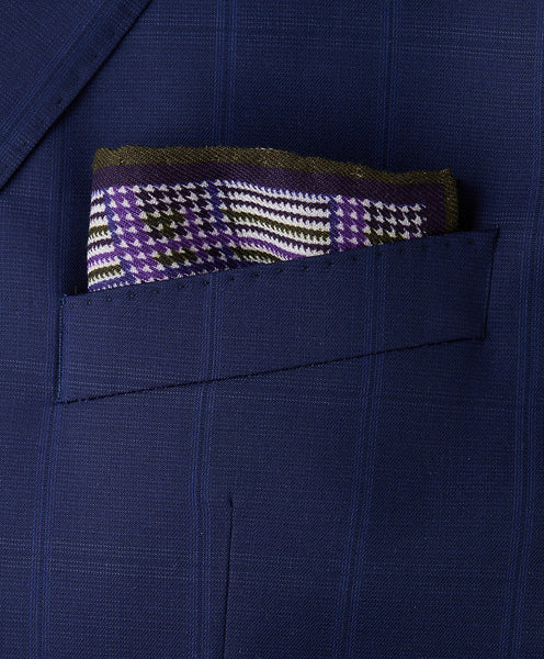 PS9898500 | Purple Houndstooth Pocket Square