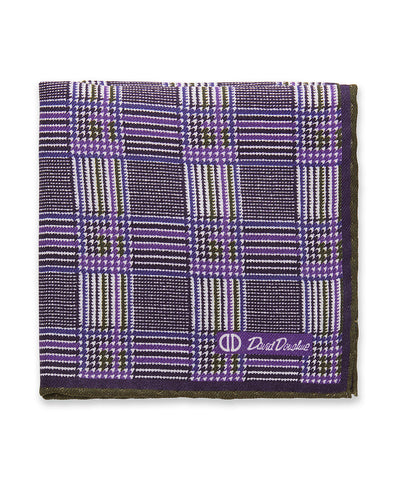 Purple Houndstooth Pocket Square