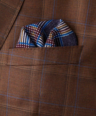 Merlot Houndstooth Pocket Square