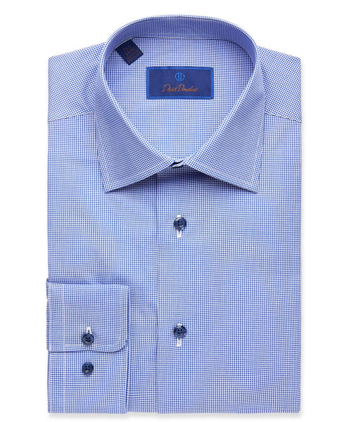RBCSP1235412 | Navy Micro Gingham Dress Shirt