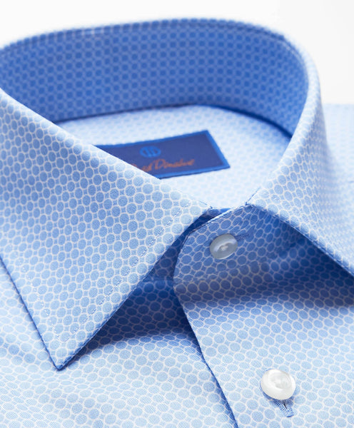 RBCSP2301461 | Blue and White Circle Dress Shirt