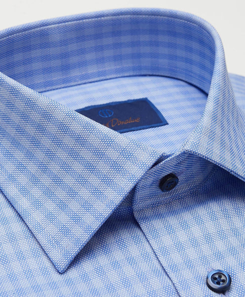 RBCSP2863423 | Blue Tonal Ground Check Dress Shirt