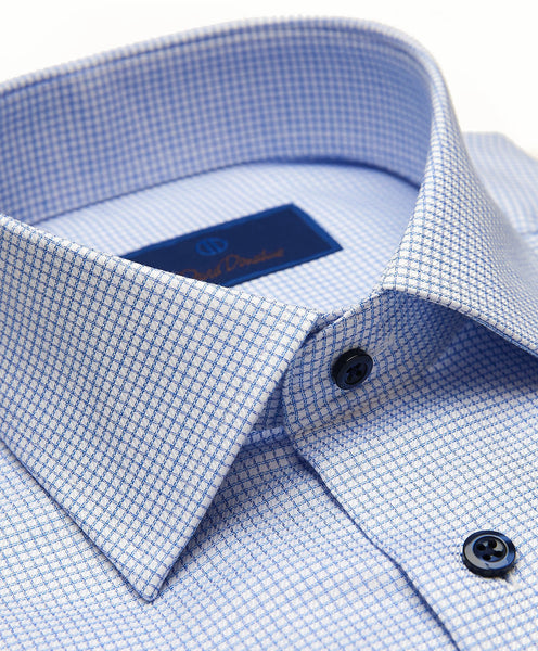 RBCSP2882423 | Blue Mini Twill Check Dress Shirt