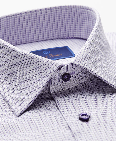 RBCSP8112534 | Two Tone Mini Basketweave Dress Shirt