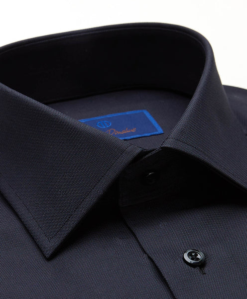 RBCSP8128002 | Black Micro Textured Dress Shirt