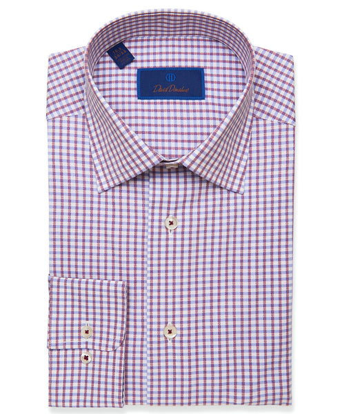 RBSP01823165 | Merlot Textured Bold Check Dress Shirt