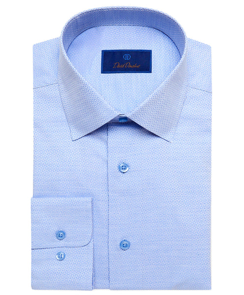 RBSP02104454 | Sky Blue Diamond Dobby Dress Shirt