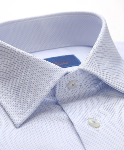 RFCSP9227135 | Blue Horizontal Tic French Cuff Dress Shirt