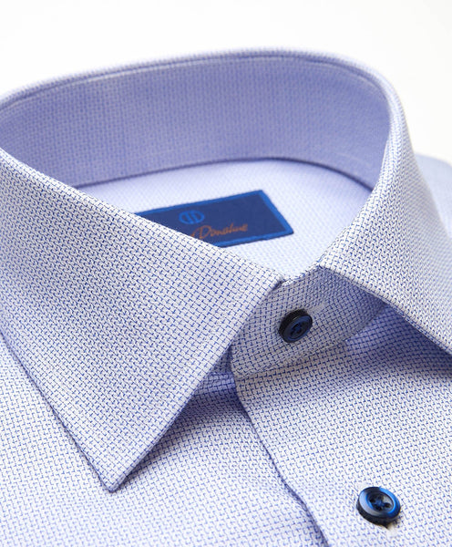 SBCSP2004423 | Blue Herringbone Check Dress Shirt