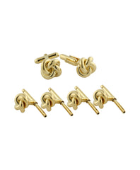 Gold Plated Sterling Silver Knot Stud Set