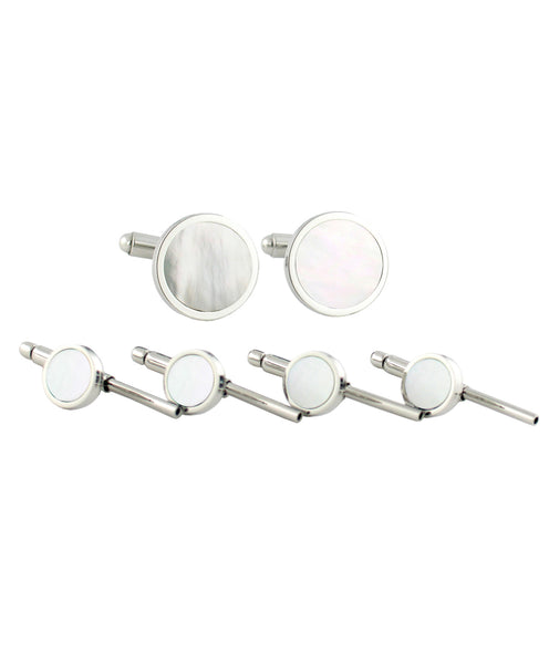 Sterling Silver Mother of Pearl Stud Set