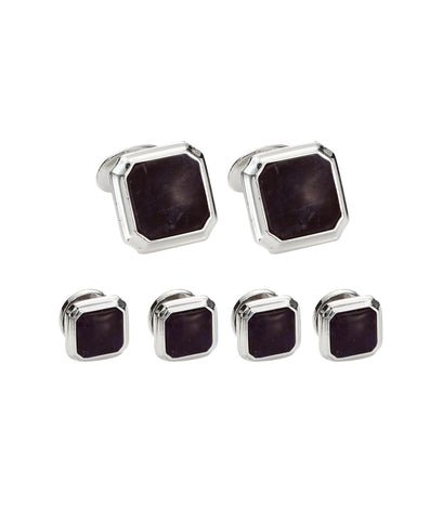 Onyx & Sterling Silver Stud Set