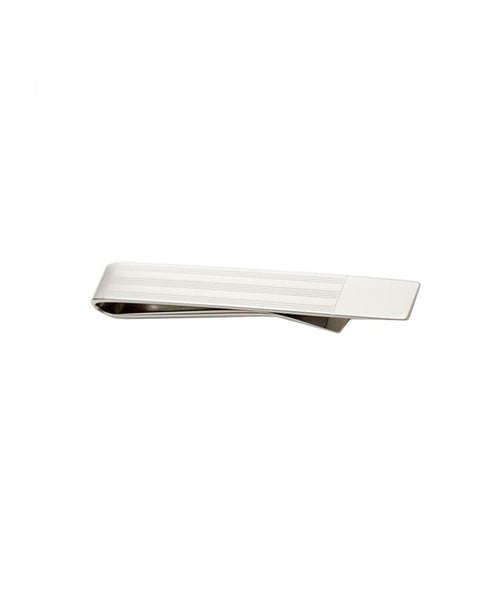 TB310202 | Multi Stripe Solid Tipped Silver Tie Bar