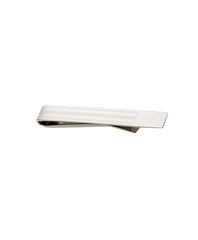 Multi Stripe Solid Tipped Silver Tie Bar