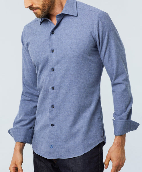 TBCSM2108476 | Denim Brushed Melange Fusion Shirt
