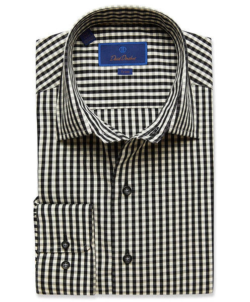 TBCSM2897002 | Black Gingham Fusion Shirt