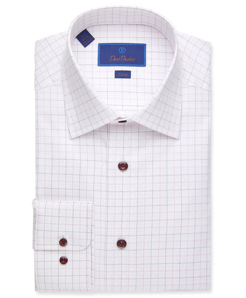 TBCSP1845652 | Dobby Weave with Fine Line Check Dress Shirt