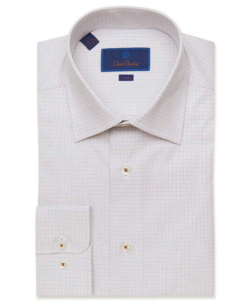 TBCSP2857204 | Brown Micro Tattersall Dress Shirt