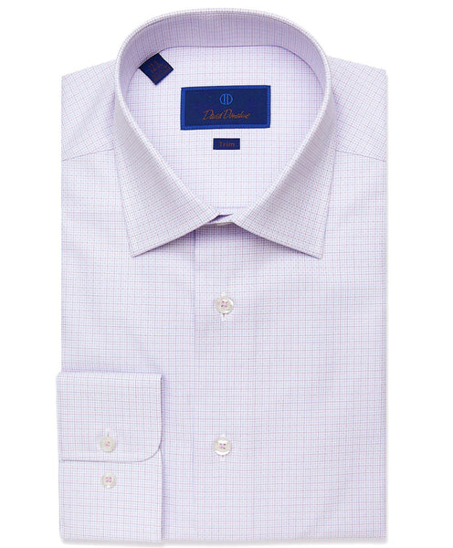 TBCSP2857534 | Lilac Micro Tattersall Dress Shirt