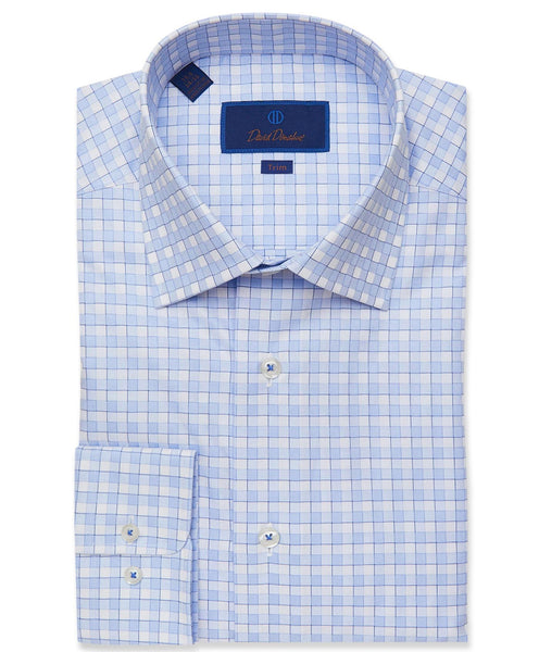 TBCSP2859135 | Light Blue Oversized Gingham Dress Shirt