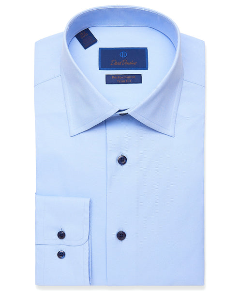 TBCSP3109454 | Sky Blue Solid Twill Performance Dress Shirt