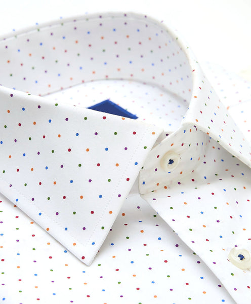 TBCSP3300199 | Multi Colored Dot Print Dress Shirt