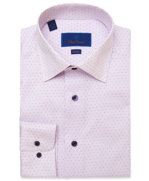TBCSP3303536 | Lilac Micro Dot Print Dress Shirt