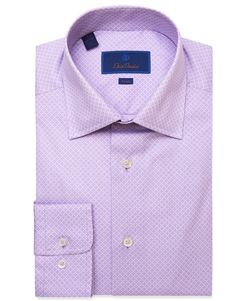 TBCSP3406534 | Lilac Floral Neat Print Dress Shirt