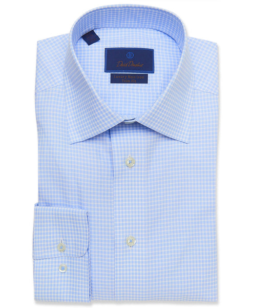 TBCSP3622135 | Blue Gingham Non-Iron Dress Shirt