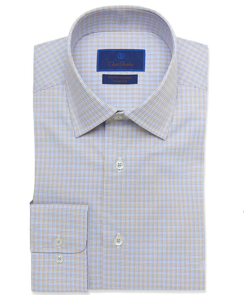 TBCSP3628292 | Dune Micro Tattersall Performance Dress Shirt