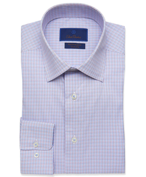 TBCSP3628652 | Berry Micro Tattersall Performance Dress Shirt
