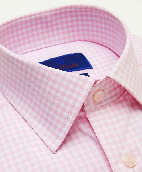 TBCSP3629145 | Pink Gingham Performance Dress Shirt