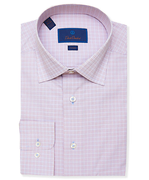 TBCSP3656458 | Sky & Pumpkin Jaspe Check Dress Shirt