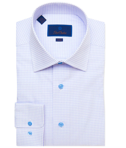 TBCSP3661144 | Berry Fine Line Check Dress Shirt