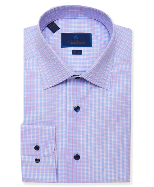 TBCSP3664464 | Blue & Berry Jaspe Plaid Dress Shirt