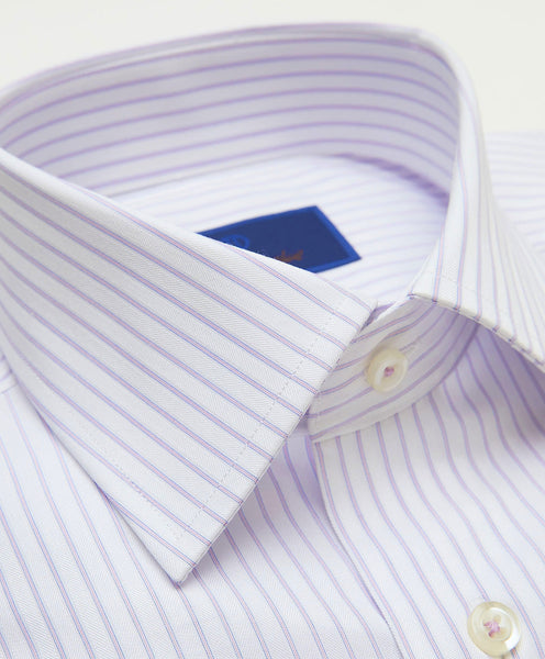 TBCSP3903145 | White & Pink Striped Dress Shirt