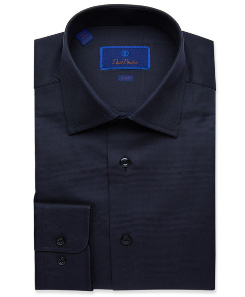 TBCSP8128002 | Black Micro Textured Dress Shirt