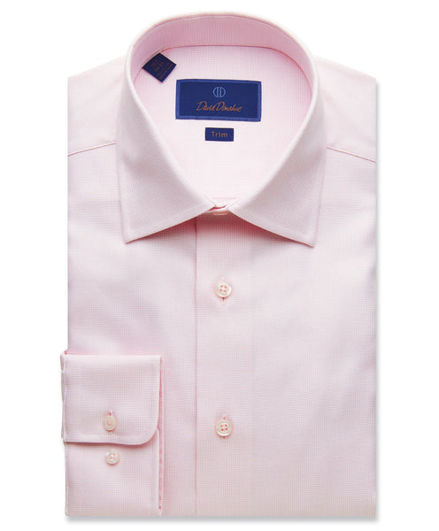 TBCSP9211650 | Pink Micro Basketweave Dress Shirt