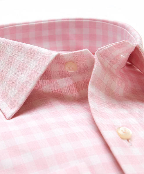 TBSM02829145 | Pink Oversized Gingham Shirt