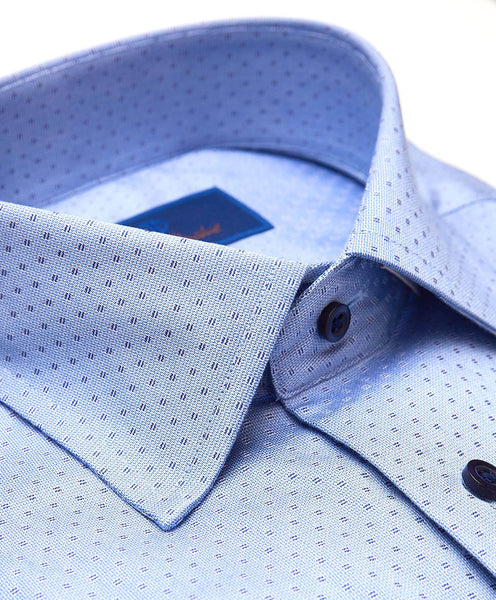 TBSP01201423 | Blue Modern Neat Dress Shirt