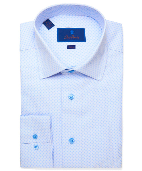 TBSP01301454 | Sky Blue Woven Dot Dress Shirt