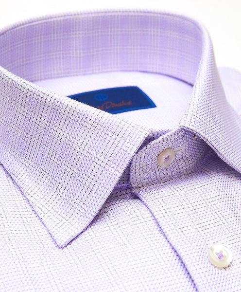 TBSP01801133 | Lilac Plaid Twill Dress Shirt