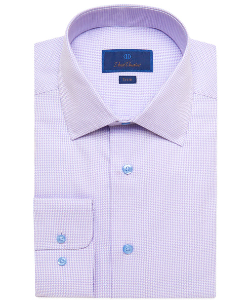 TBSP02235534 | Lilac Mini Houndstooth Dress Shirt