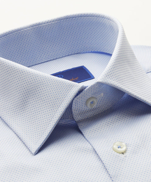 TFCSP9200454 | Sky Micro Textured French Cuff Dress Shirt