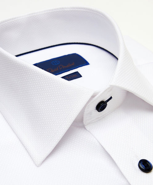 TMBSP2112110 | White Textured Dobby Dress Shirt
