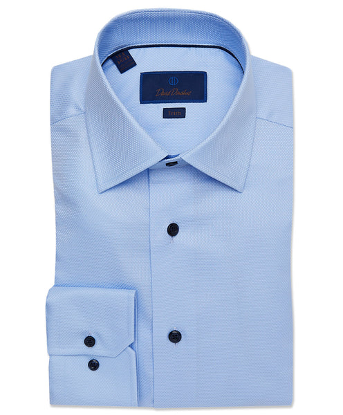 TMBSP2112454 | Sky Blue Textured Dobby Dress Shirt